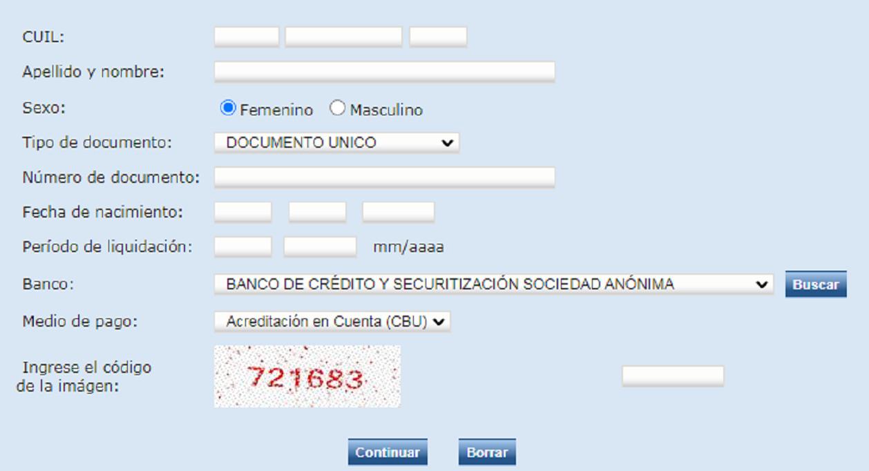 consulta de liquidacion suaf online