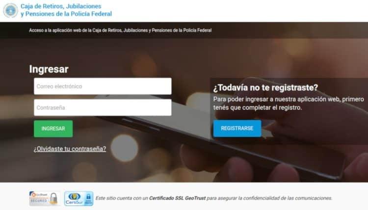 Aplicación Web de la Caja de Retiros