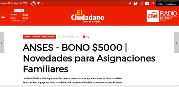 Bono Para Asignacion Suaf 2018